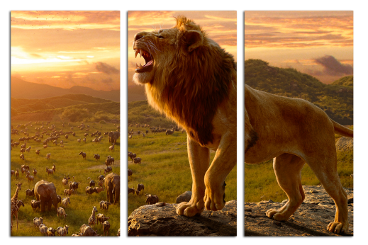 Модульная картина Король Лев